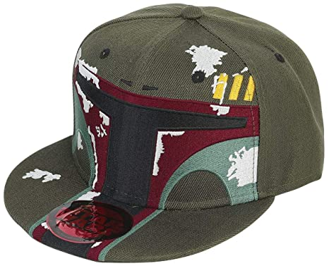 Star Wars Boba Fett Snapback Cap Green  Amazon.co.uk  Clothing 81d64af1806