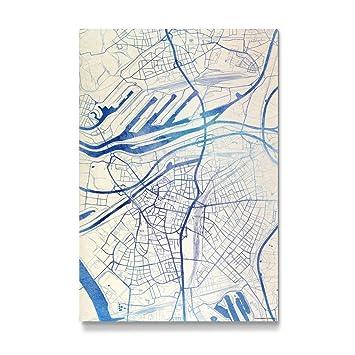 Amazon De Artboxone Gedruckt Auf Deutschland Duisburg Blue