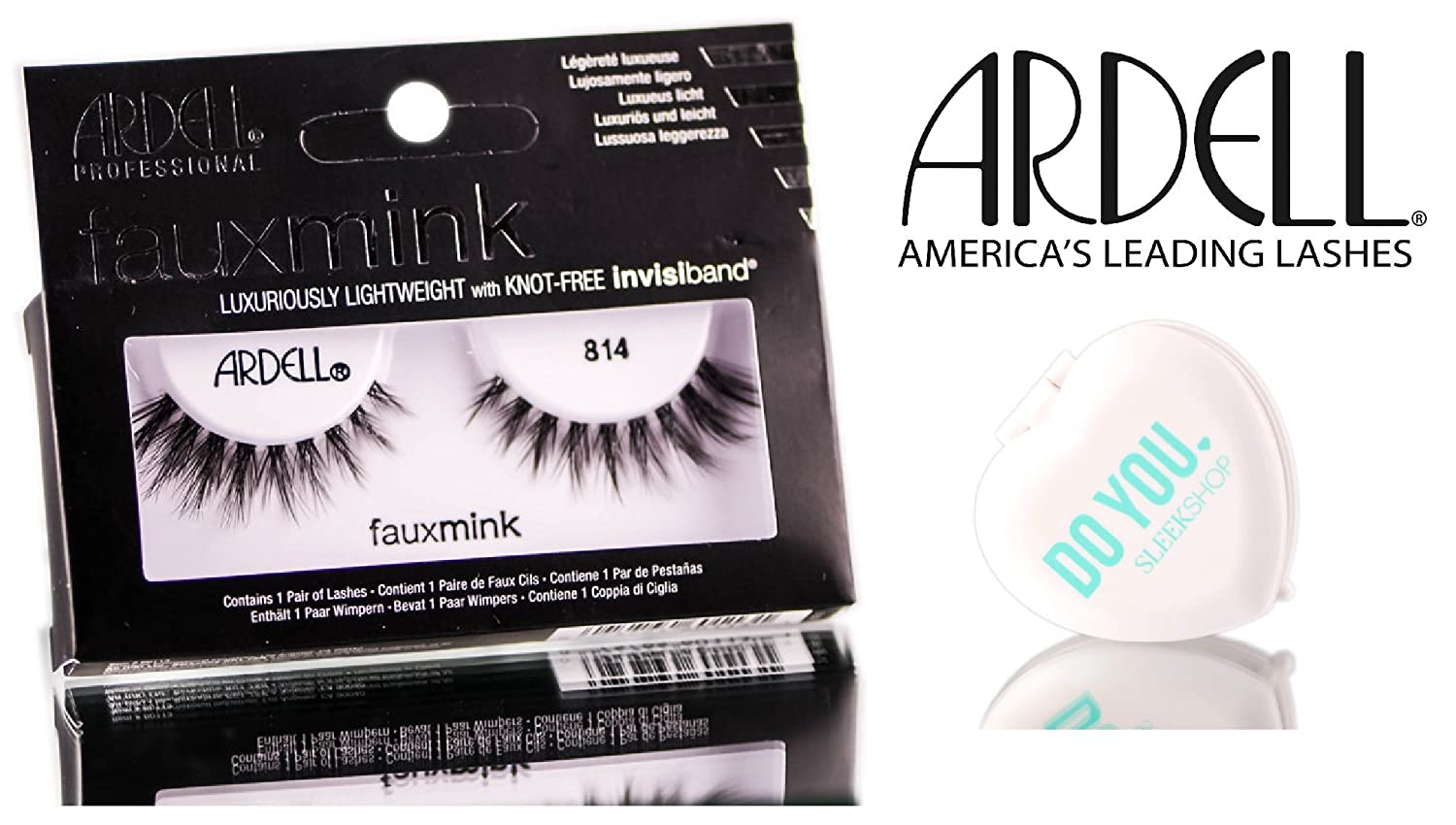 0689a284ace Amazon.com : Ardell Professional Faux Mink Designer Lash Collection (with  Sleek Compact Mirror) (Demi Wispies) : Beauty