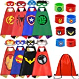 Superhero Capes Set and Wristbands Costumes Halloween Cosplay Dress Up
