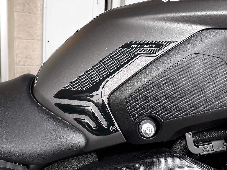 2 Stickers 3d Side Protection Tank Kompatibel Motorrad Yamaha Mt 07 2018 2020 Auto