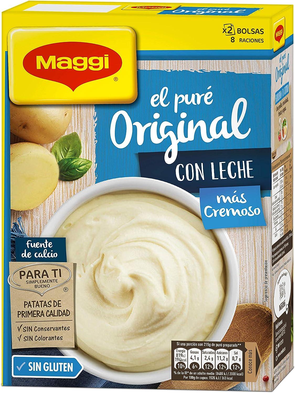 Maggi Puré de Patatas Con Leche, Puré Sin Gluten - 230 gr: Amazon.es: Alimentación y bebidas