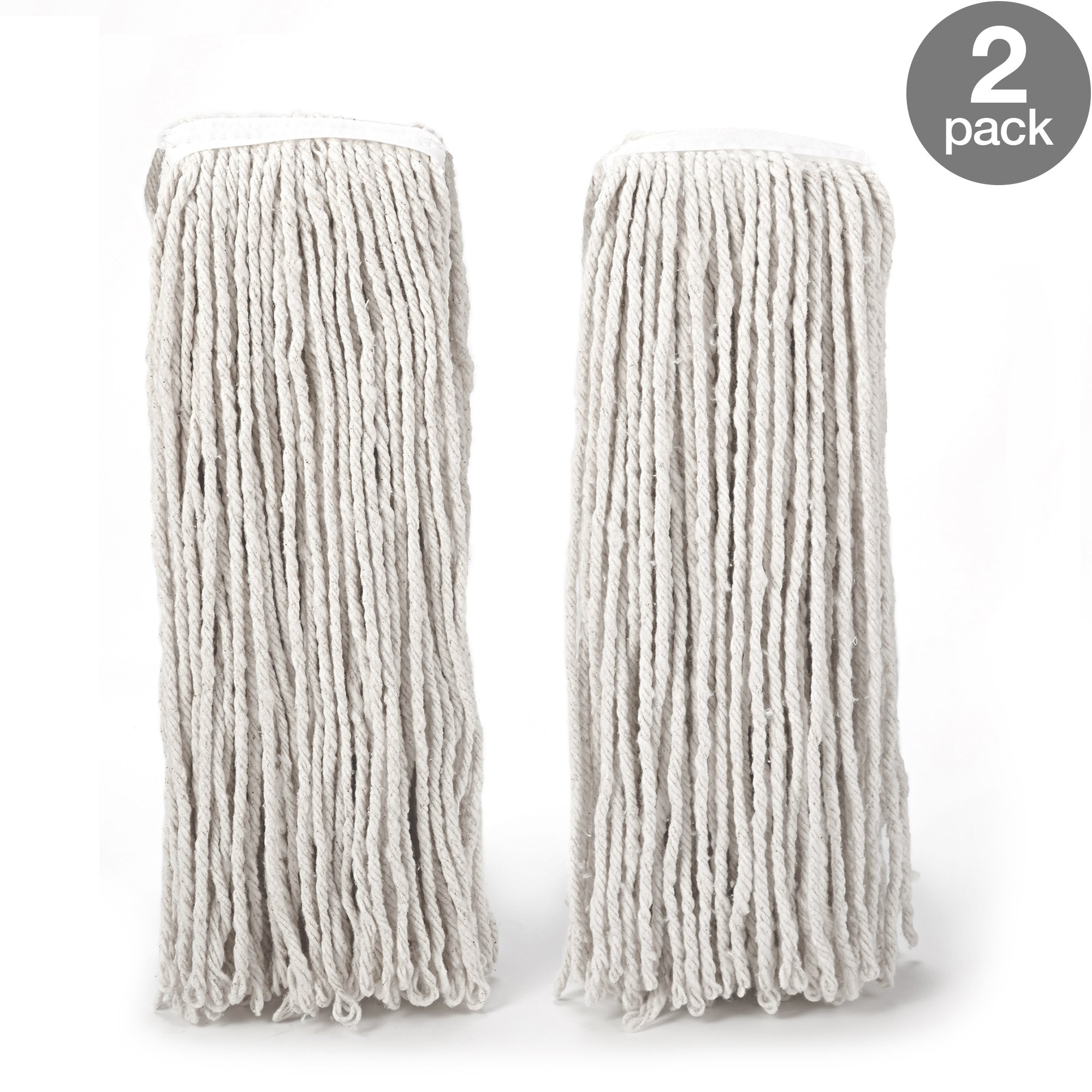 O-Cedar Heavy Duty Looped-End String Mop Refills 2 Pack