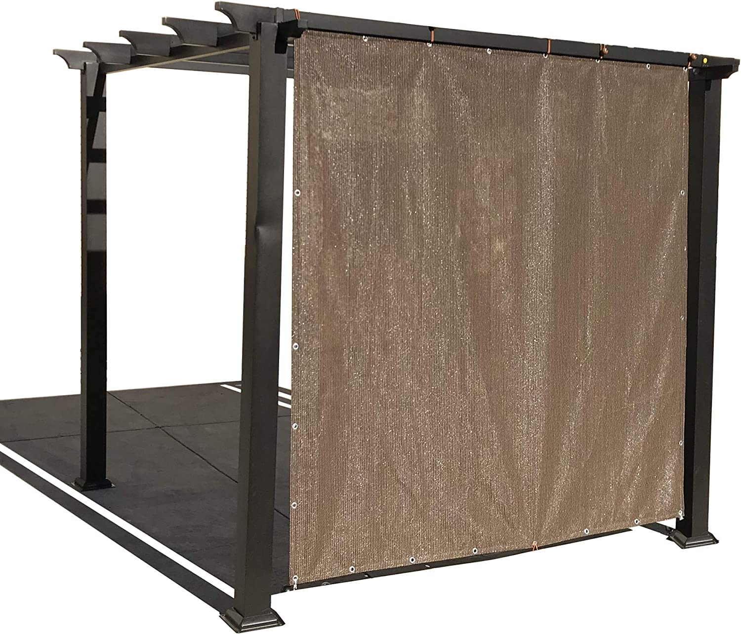 Alion Home Sun Shade Privacy Panel with Grommets and Hems on 4 Sides for Patio, Awning, Window, Pergola or Gazebo - Mocha Brown (10' x 10')