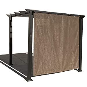 Alion Home Sun Shade Privacy Panel with Grommets and Hems on 4 Sides for Patio, Awning, Window, Pergola or Gazebo - Mocha Brown (10' W x 6' H)