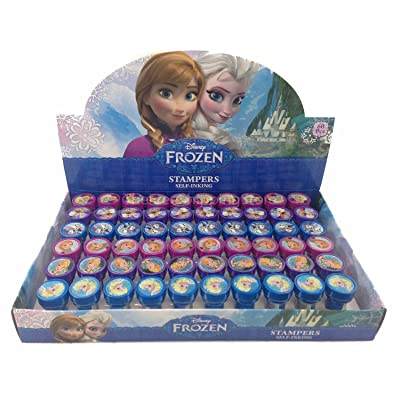 12 Pieces Disney Frozen Anna Elsa Olaf Stampers Self-Inking Birthday Party Favors: Toys & Games