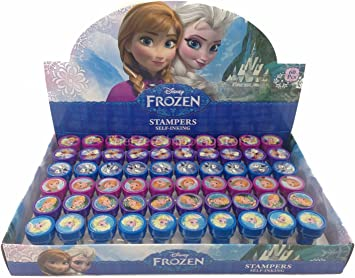 12 Pieces Disney Frozen Anna Elsa Olaf Stampers Self-Inking Birthday Party Favors by Unknown: Amazon.es: Juguetes y juegos