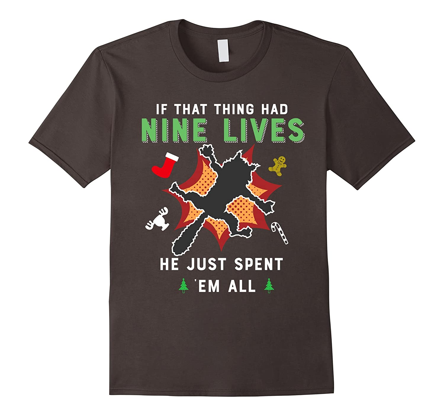 if that thing had nine lives christmas vacation cat tshirt anz