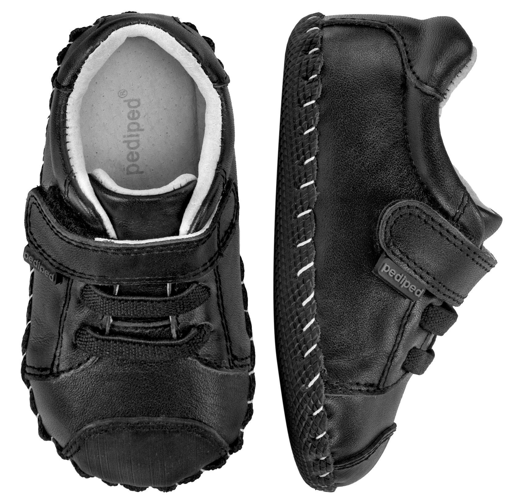 pediped Boys' Jake Crib Shoe, Black, 0-6 Months Child EU Infant (0-6 Months US) by pediped