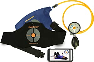 CoreCoach Pressure Biofeedback Training System - Isolate Your TVA Muscle and Stabilize Your Core Quickly and Easily at Home with this Advanced, Comprehensive Package Including Booklet + Video Training