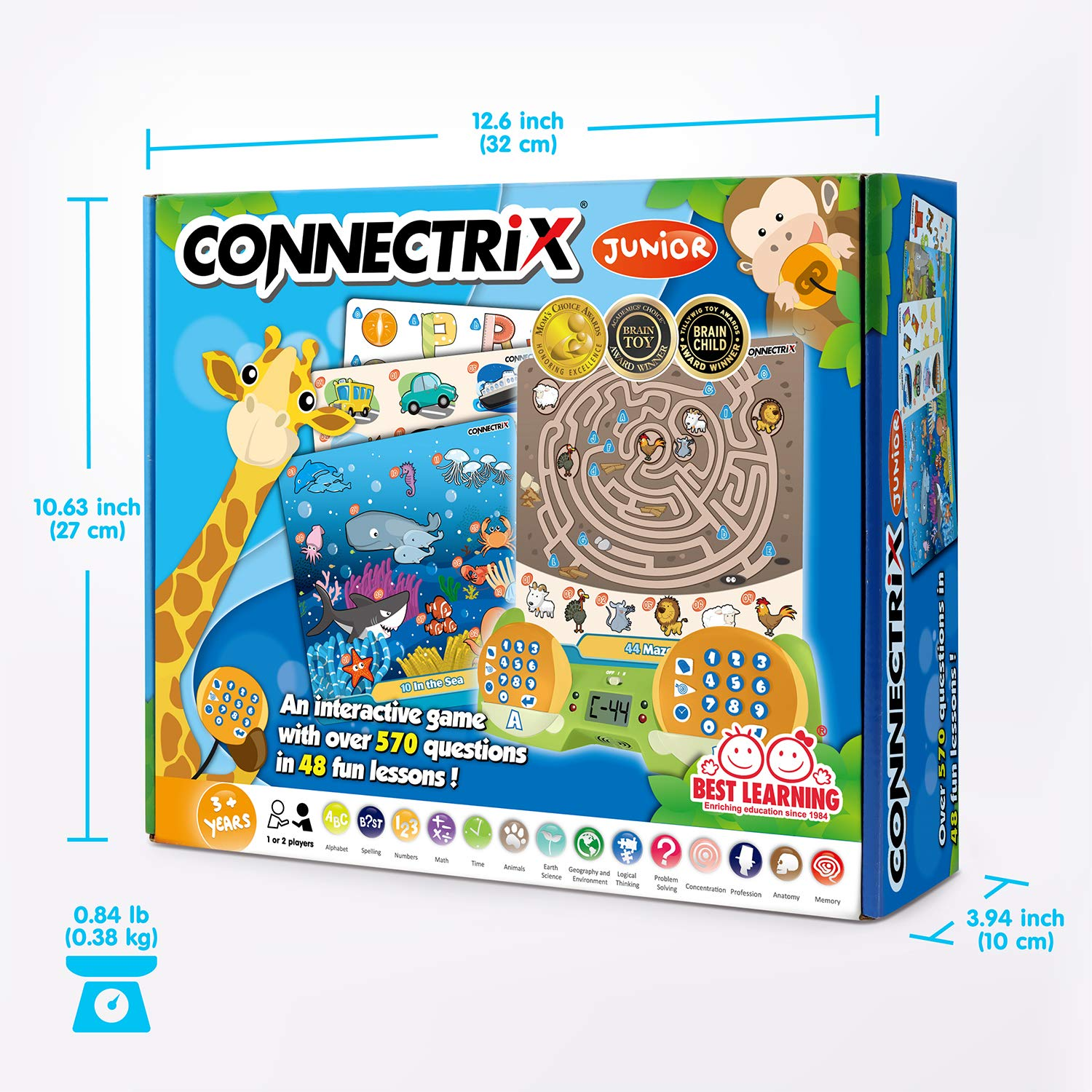 BEST LEARNING Connectrix Junior - Memory Matching Game for Kids - Original Interactive Educational Match Cards Toddler Games for 3-8 Year Olds - Classic 2-Player Concentration Card Toys for Toddlers by BEST LEARNING (Image #7)