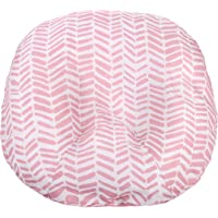 Water Resistant Removable Cover for Newborn Lounger | Pink Herringbone Design | Premium Quality Soft Wipeable Fabric | Great Baby Girl Shower Gift | Mila Millie (Pink Herringbone)