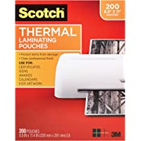 200-Pack Scotch Thermal Laminating Pouches Clear
