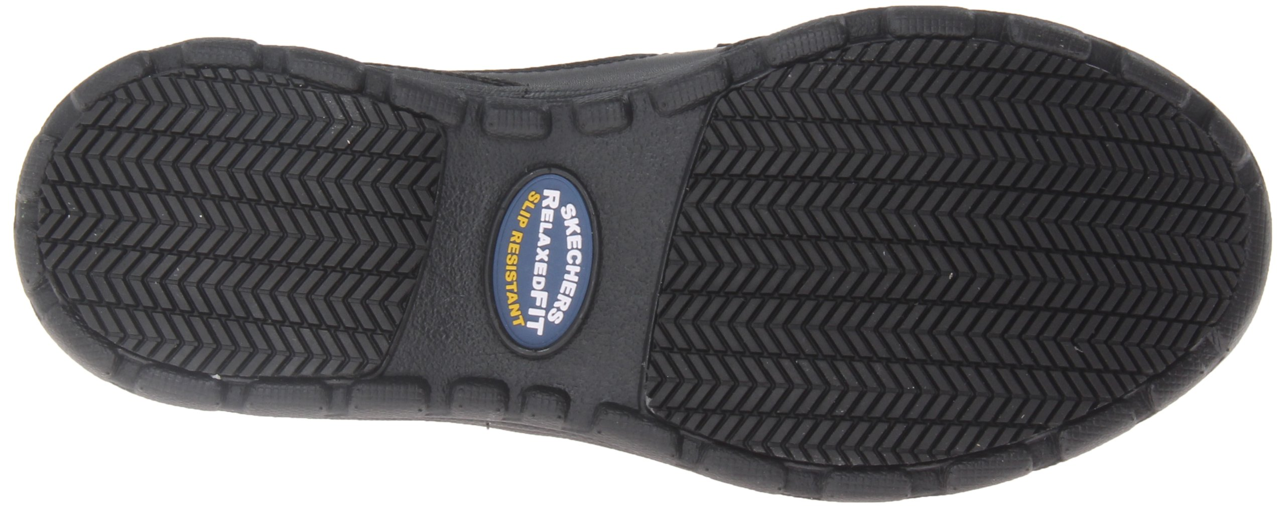 Skechers for Work Men's Hobbes Relaxed Fit Slip Resistant Work Shoe, Black, 11.5 M US by Skechers (Image #3)