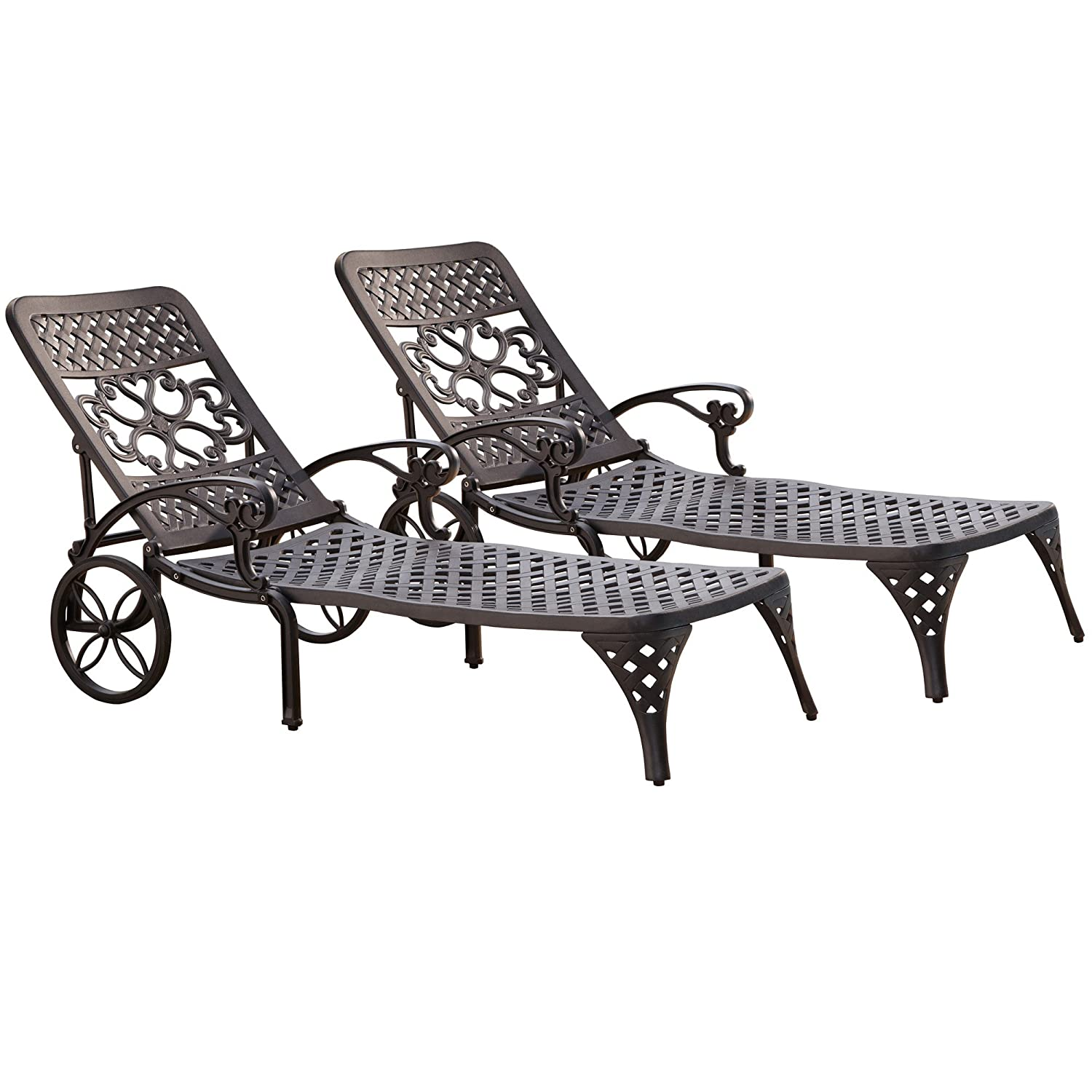 amazon com home styles biscayne chaise lounge chair black