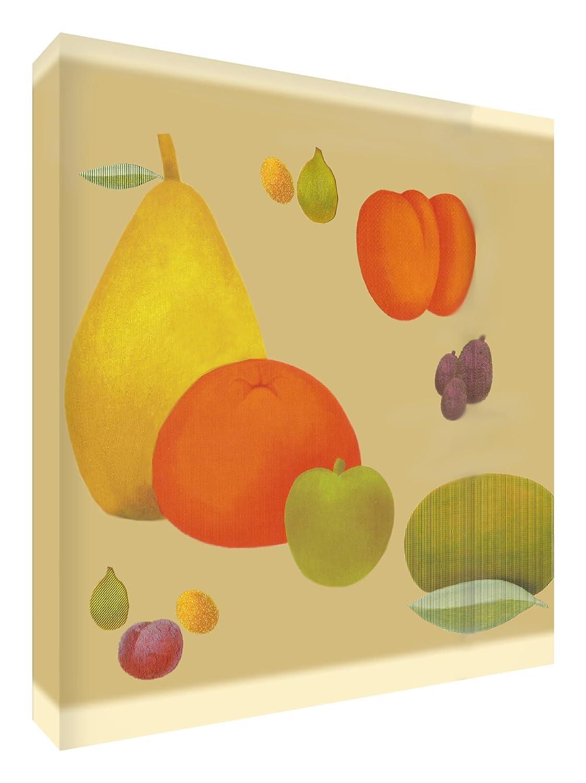 Feel Good Art Leinwand leuchtenden Farben gehören des Künstlers Val Johnson Obstschale, 96x 96x 4cm Größe XXL