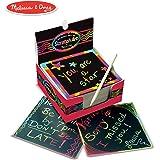 Melissa&Doug 彩色迷你绘画本 木制画笔在纸张上直接绘出彩色图案 125张,带木制画笔