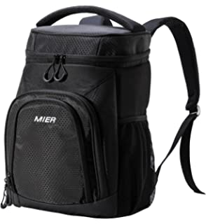 MIER Lightweight Lunch Cool Bag Backpack Soft Cooler Rucksack for Picnics 1eef10a8b8f55