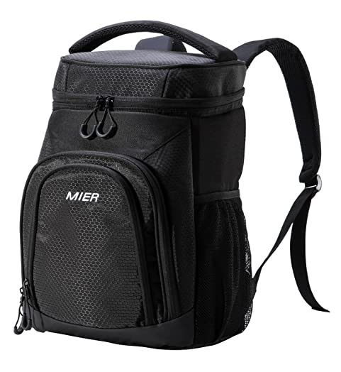 MIER Lightweight Lunch Cool Bag Backpack Soft Cooler Rucksack For Picnics Camping Gym