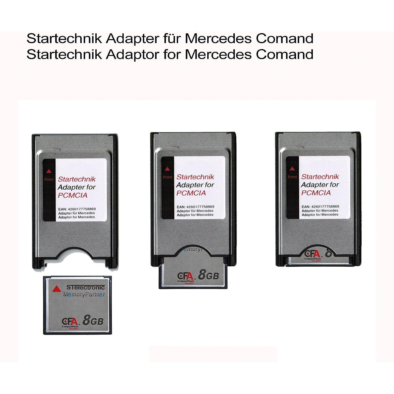 Adaptador PCMCIA Tarjeta Compact Flash para sistemas de Mercedes COMAND APS (SEC GLK Class) - con rañura PCMCIA