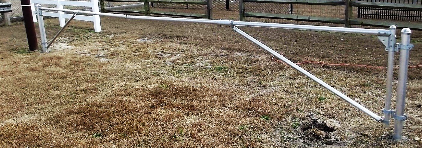 Aluminum Post Farm Gate Kit - Adjustable up to 12' Opening - No Weld