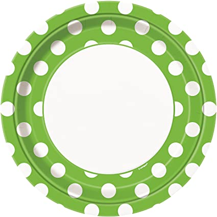 Lime Green Polka Dot Paper Plates 8ct  sc 1 st  Amazon.com & Amazon.com: Lime Green Polka Dot Paper Plates 8ct: Kitchen \u0026 Dining