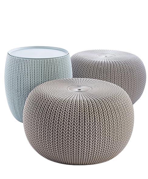 Amazon.com: Keter 3-piece Cozy Urban Knit Furniture Set, Compact ...
