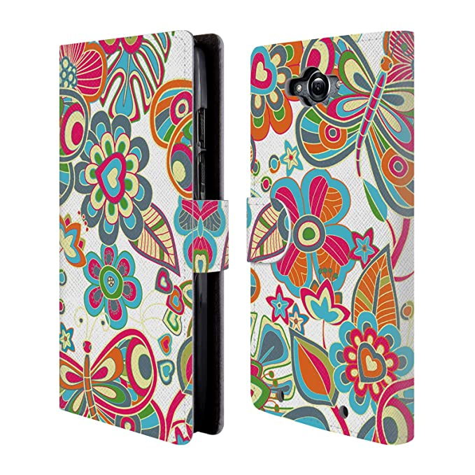 Official Julia Grifol Lovely Butterflies Floral Leather Book Wallet Case Cover for Motorola Droid Turbo