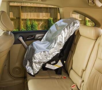 Mommys Helper Car Seat Sun Shade Silver