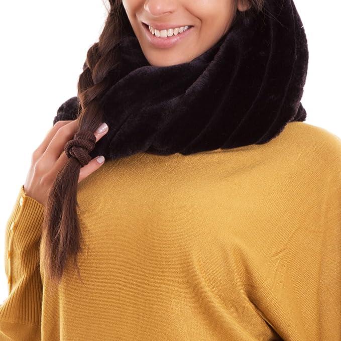 Toocool - Scaldacollo donna sciarpa ecopelliccia caldo fascia collo morbido  nuovo AS-8225-1  Taglia unica e855066769a