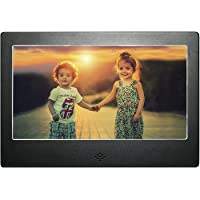 DIGIFLEX 7 inch Digital Photo Frame Black Matte High Resolution with Backlight and Remote- Mains Powered with USB AND SD card port
