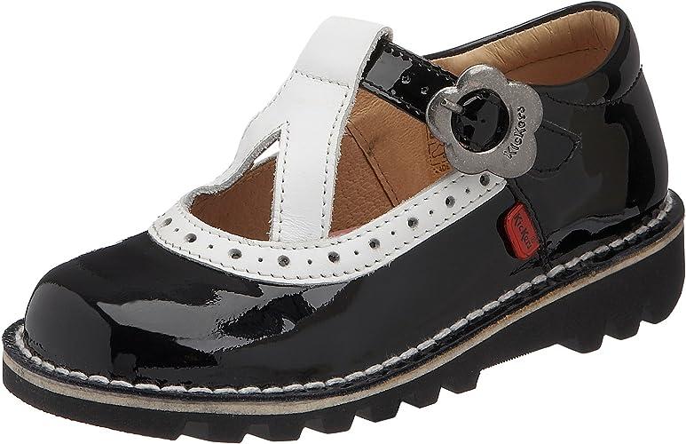 Kickers Girls Kick T Bar Retro Infants Black Patent Shoe Black White Patent Kf0000761 Bzp 22 22 Uk 5 Amazon Co Uk Shoes Bags
