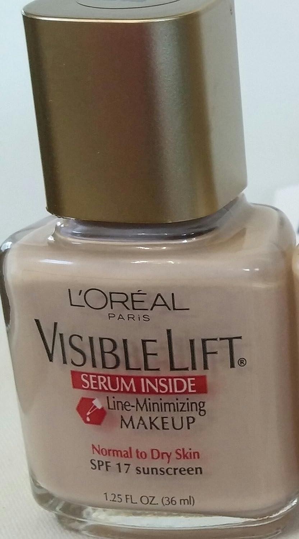 L'Oreal Paris Visible Lift Line-Minimizing & Tone-Enhancing Makeup, Sun  Beige, 1 25 Ounces (2 pack)