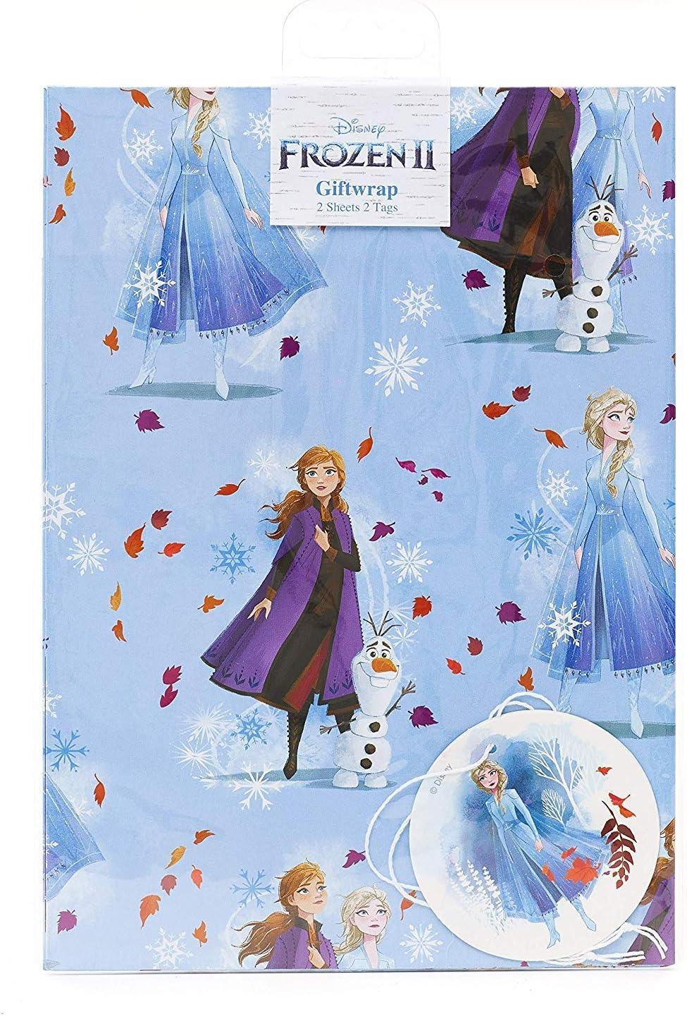 Papel de regalo de cumpleaños para niñas – Papel de regalo para niños, papel de regalo, cumpleaños, papel de regalo de Frozen, regalo perfecto para niñas, regalos de Frozen – 2 hojas y 2 etiquetas