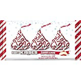 KISSES Candy Cane, Mint Flavored White Crème with Candy Cane Bits in Holiday Packaging, 10 Ounce Bag (Pack of 4)