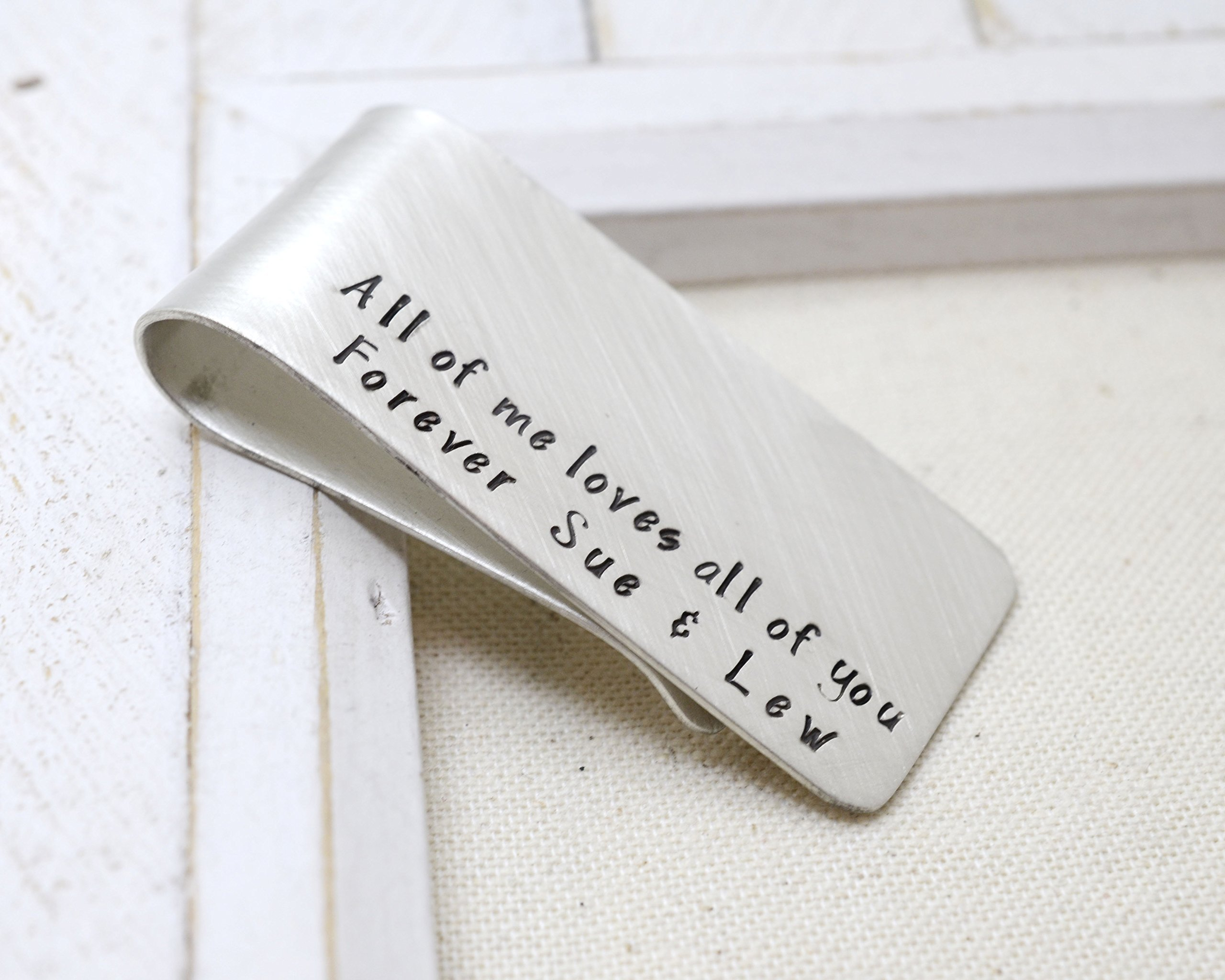 Valentine's Day Sterling Silver Money Clip - Love it Personalized