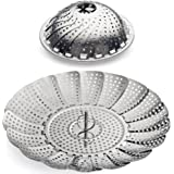 "Sunsella Vegetable Steamer - 5.3"" to 9.3"" - Stainless Steel"