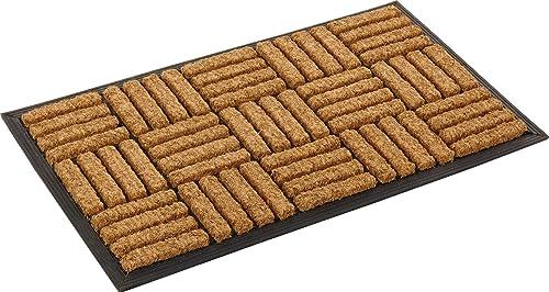 Kempf Coco Fiber in-Laid Doormat 18 x 30 Inch