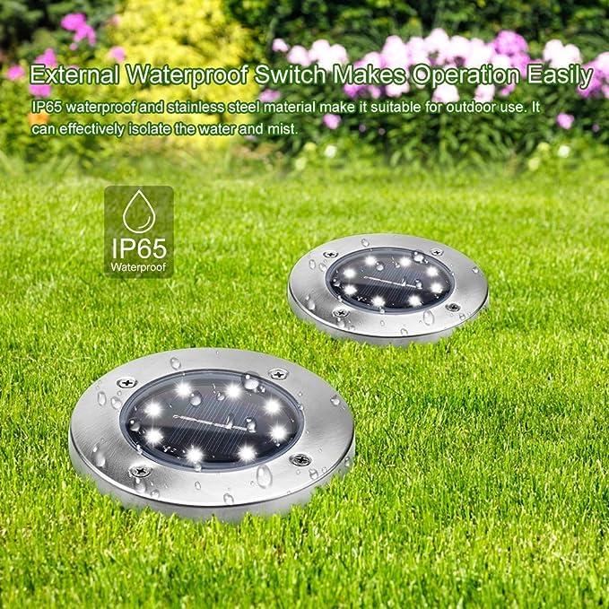 Tonbux Lampes Solaires De Sol Des Lampes De Jardin Allee Exterieur