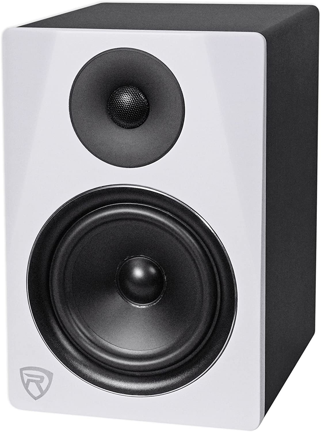 "Rockville DPM6W 6.5/"" 2-Way 210W White Active//Powered Studio Monitor Speaker"