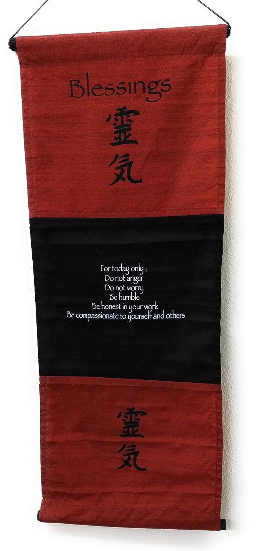 Striscione Chic /& zen Blessing Bandiera dintorni 68/cm x 27/cm Violet affermazione Bandierina Citazione