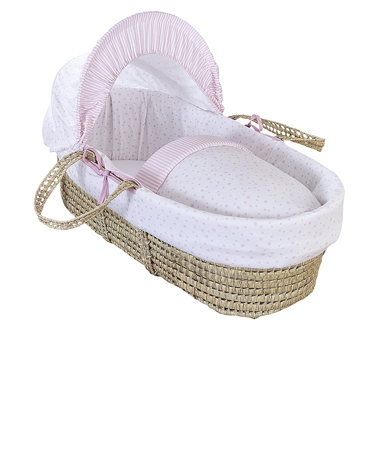 Clair de Lune Palm Moses Basket (Blue, Stars and Stripes) CL5810BE