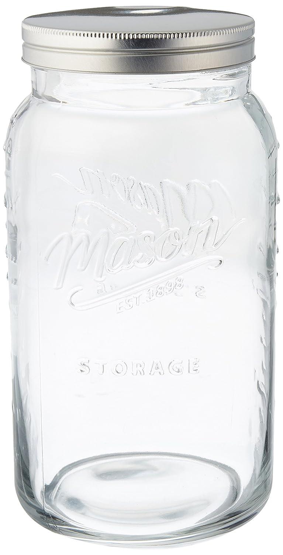 Grant Howard Jumbo Mason Embossed Glass Storage Jar, 136 oz, Clear 50777
