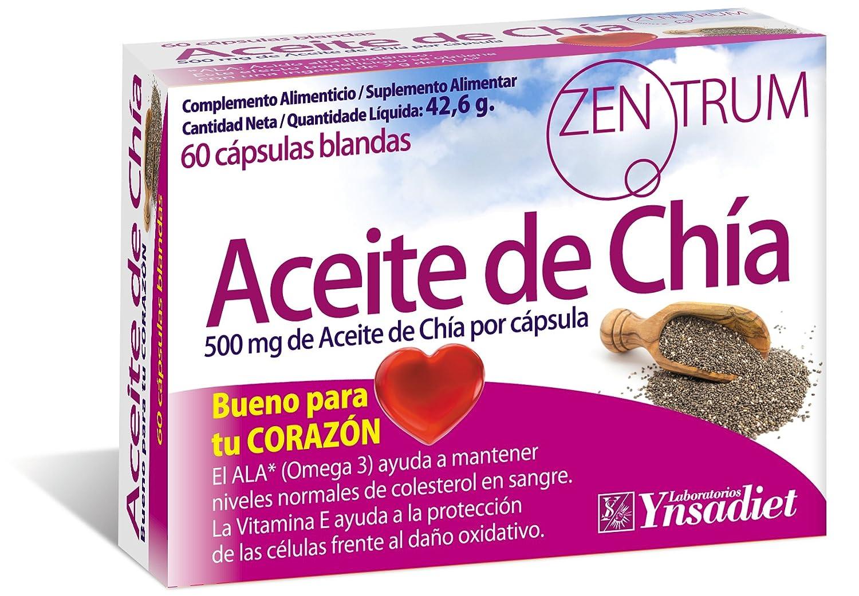 Zentrum Aceite de Chia - 60 Cápsulas: Amazon.es: Salud y cuidado ...