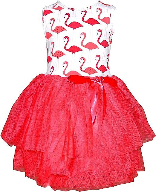 Amazon.com: Unique bebé niñas verano Flamingo vestido con ...