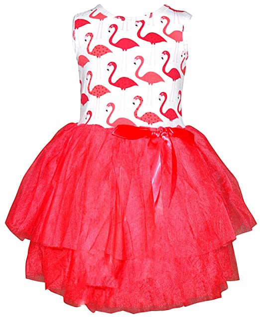 d9ab6c8cbec Amazon.com  Unique Baby Girls Summer Flamingo Dress with Tutu  Clothing