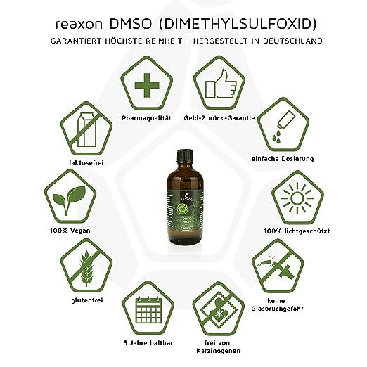 DMSO 100mL 99,9% flüssig - pharmazeutische Reinheit (mit Zertifikat ...