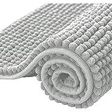 subrtex Bathroom Rugs Chenille Soft Short Plush Bath Mat Non-Slip Water Absorbent Shower Mat Quick Dry Machine Washable…
