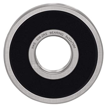608-2RS Seal Bearings,POLARHAWK 10pcs Deep Groove Ball Bearings Pre-Lubricated and Stable Performance and Cost-Effective