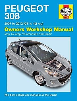 Haynes - Manual para Peugeot 308 1.4 1.6 VTI THP 1.6 HDil 2007-2012 [idioma español no garantizado]: Amazon.es: Coche y moto